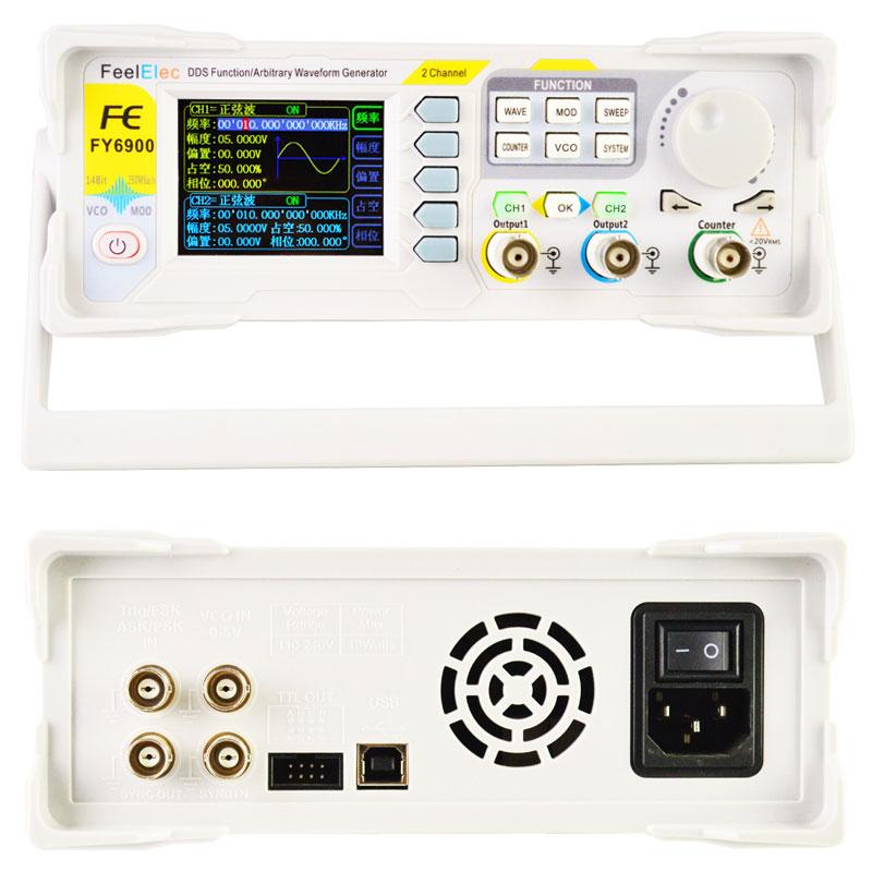 FY6900 Feeltech generator funkcyjny arbitralny stołowy laboratoryjny DDS dwukanałowy, miernik częstotliwości 100MHz FY-6900