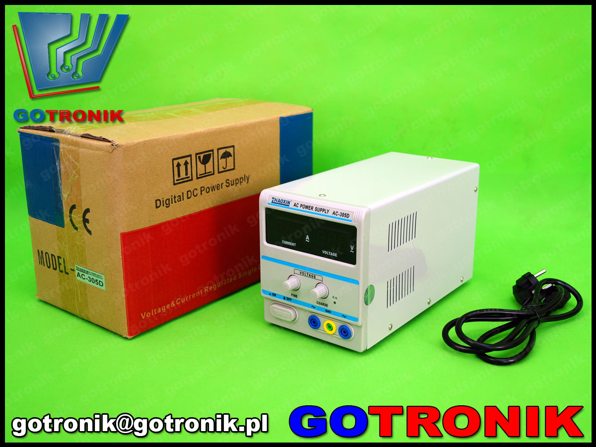 AC-305D, zhaoxin, zasilacz ac, autotransformator, transformator laboratoryjny, transformator regulowany, zasilacz laboratoryjny