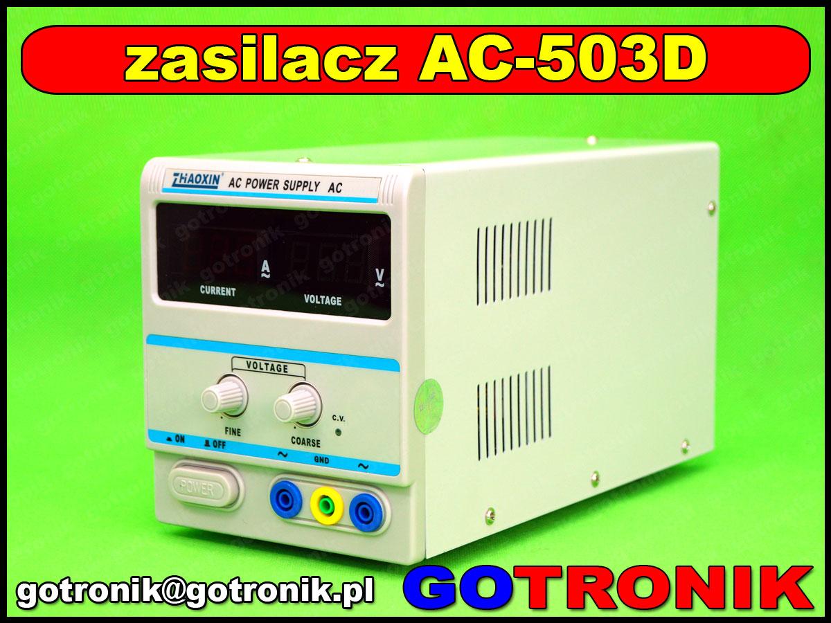 AC-503D, zhaoxin, zasilacz ac, autotransformator, transformator laboratoryjny, transformator regulowany, zasilacz laboratoryjny