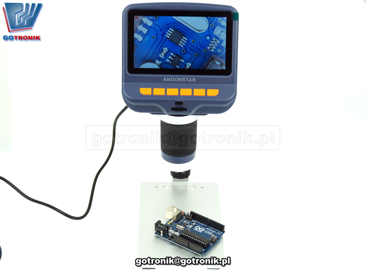Mikroskop cyfrowy AD106 Andonstar + LCD + 8 Led + statyw