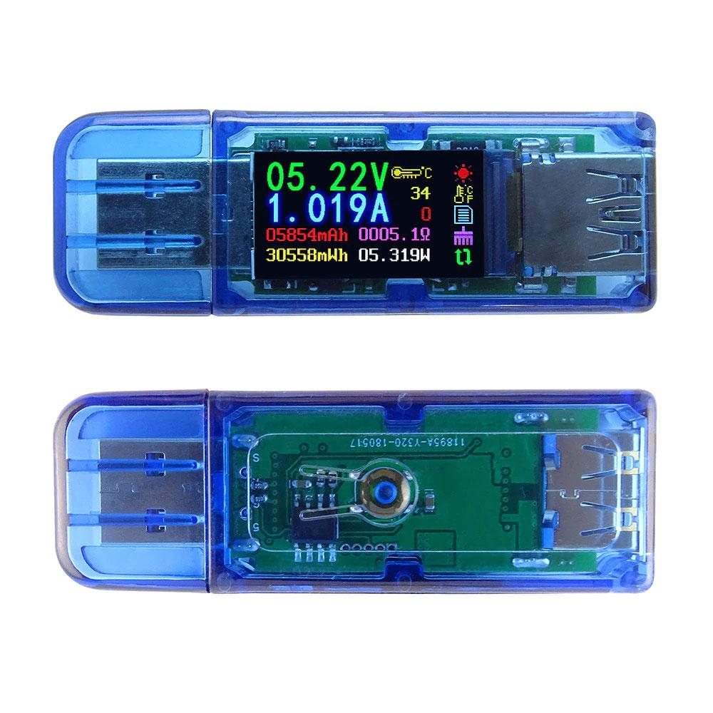 AT34 miernik portu USB 3.0 LCD 30V 4A