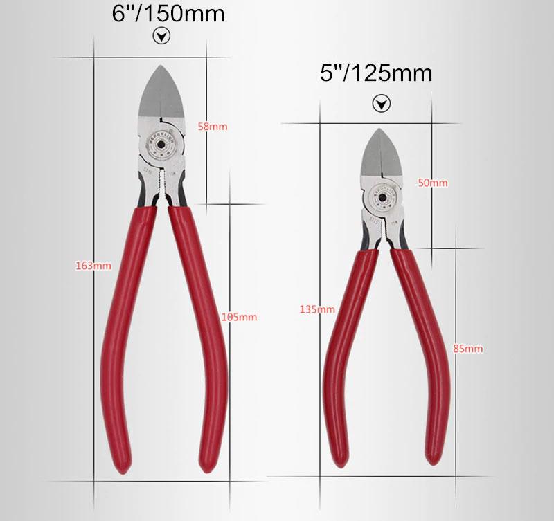 Berrylion 5 cali 125mm szczypce tnące boczne precyzyjne dla elektroniki obcinaczki obcinarki, A3