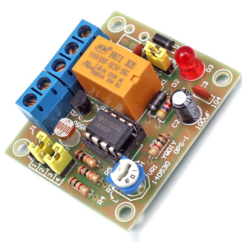 Przekaźnik sterowany światłem - zestaw KIT DIY BTE-243