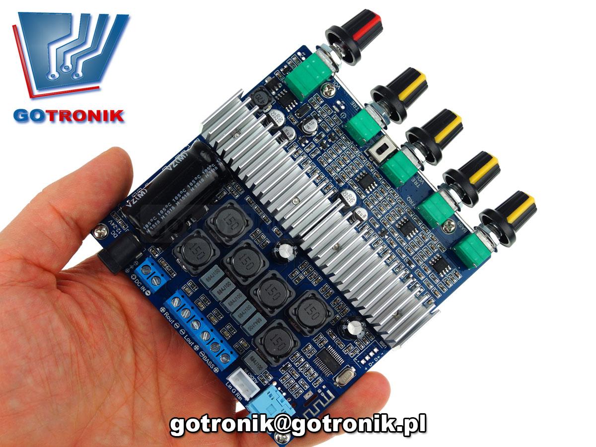 BTE-251 wzmacniacz mocy TPA3116 2 x 50W + subwoofer 100W Bluetooth