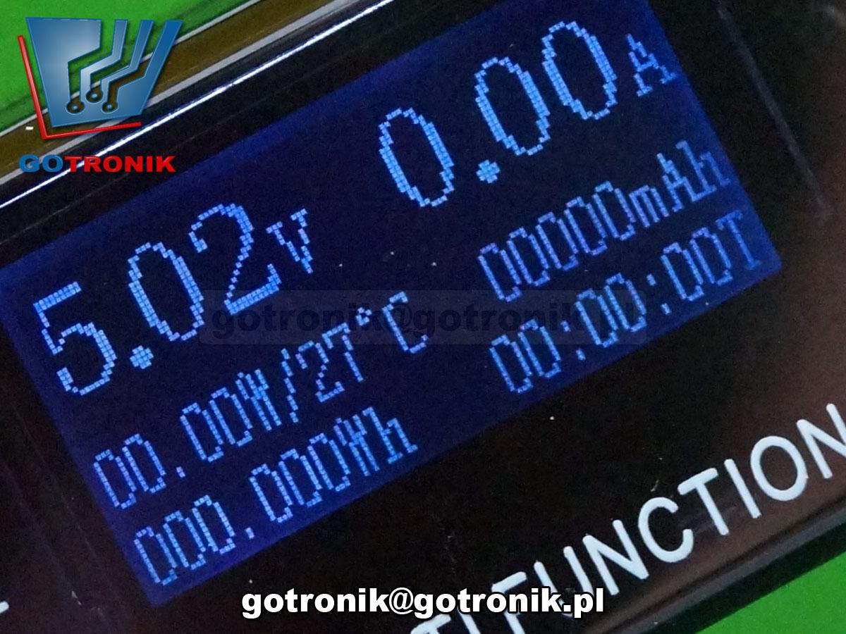 BTE-254 miernik napięcia i prądu portu USB doctor charger