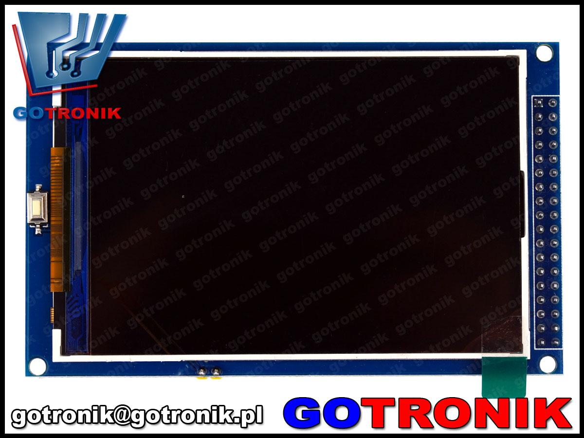 Wyświetlacz LCD TFT 3,5cala 480x320 sterownik ILI9486 MAR3513 Mega2560 arduino BTE-467