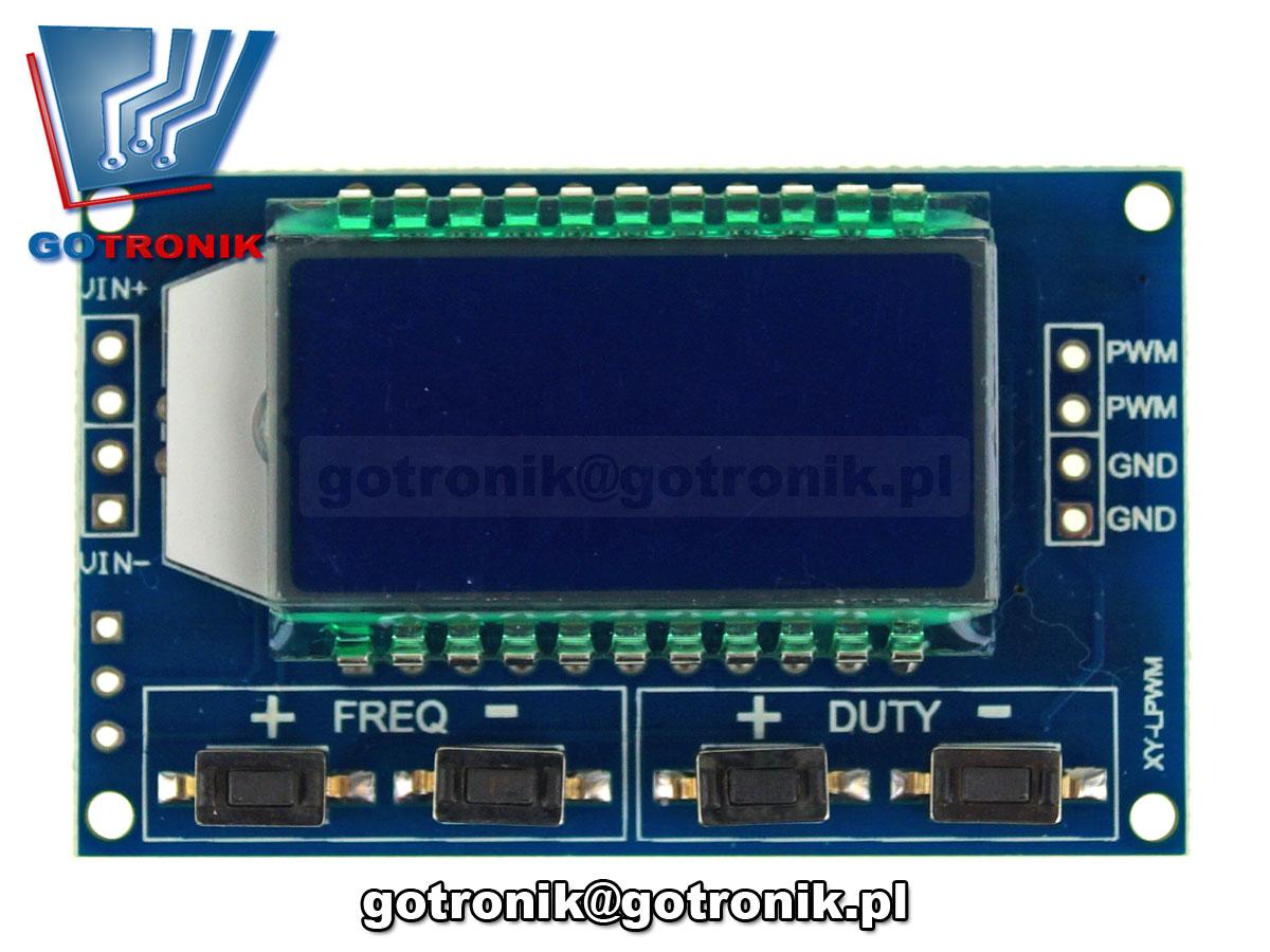 Sterownik PWM 3,3V-30V 1Hz-150kHz BTE-562 z wyświetlaczem LCD