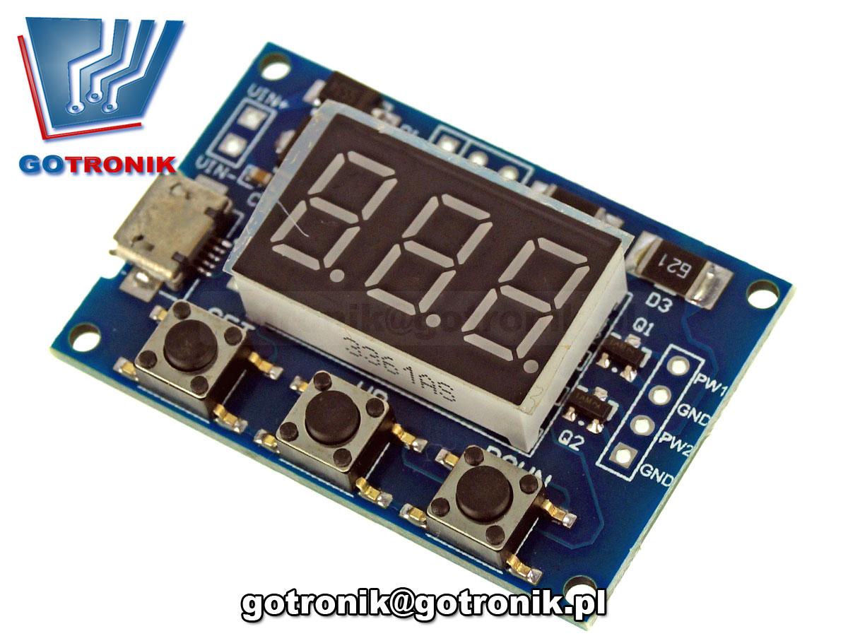 Sterownik PWM dwukanałowy 3,3V-30V 1Hz-150kHz BTE-563 z wyświetlaczem LED