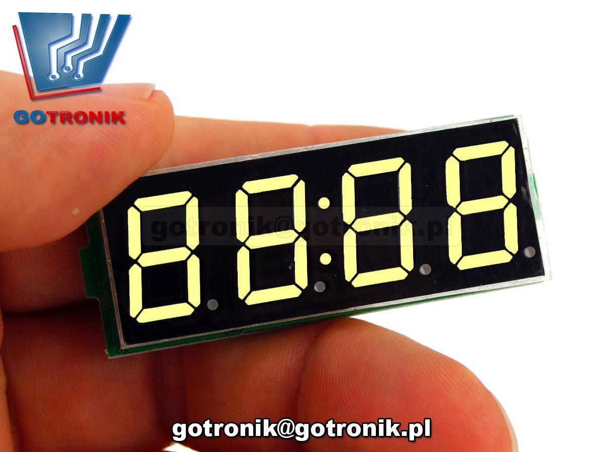 3w1 zegarek RTC DS3231 woltomierz dc 5V-30V termometr cyfrowy BTE-568 BTE-568