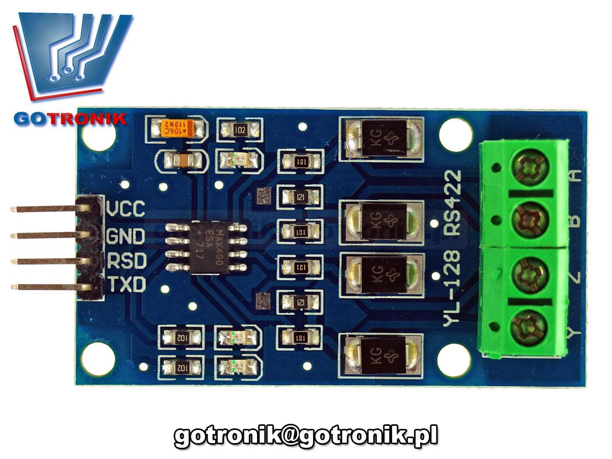 Moduł interfejsu RS422 - TTL na MAX490 BTE573 BTE-573 TVS