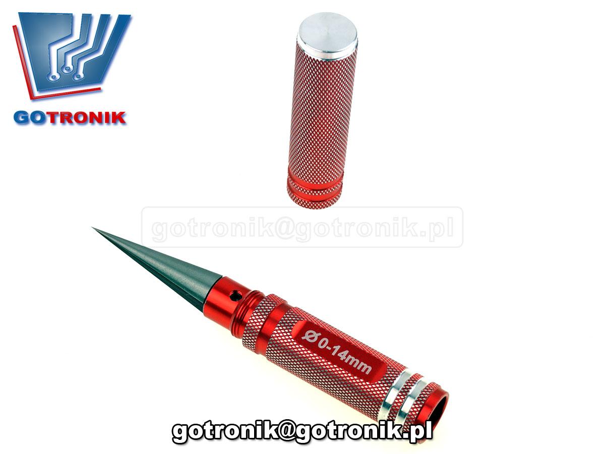 Nóż stożkowy, rozwiertak, szpikulec, dłuto, dziurkacz, ⌀ 0-14mm