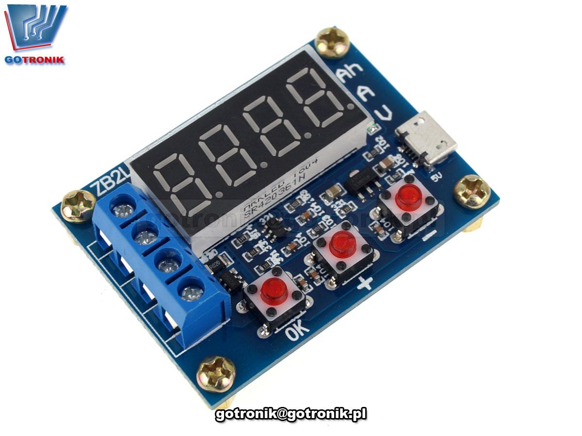 BTE-651 Tester pojemności ogniw ZB2L3 v2.3 Ni-Mh, Ni-Cd, Li-Ion, Li-Pol, Li-Fe, Pb