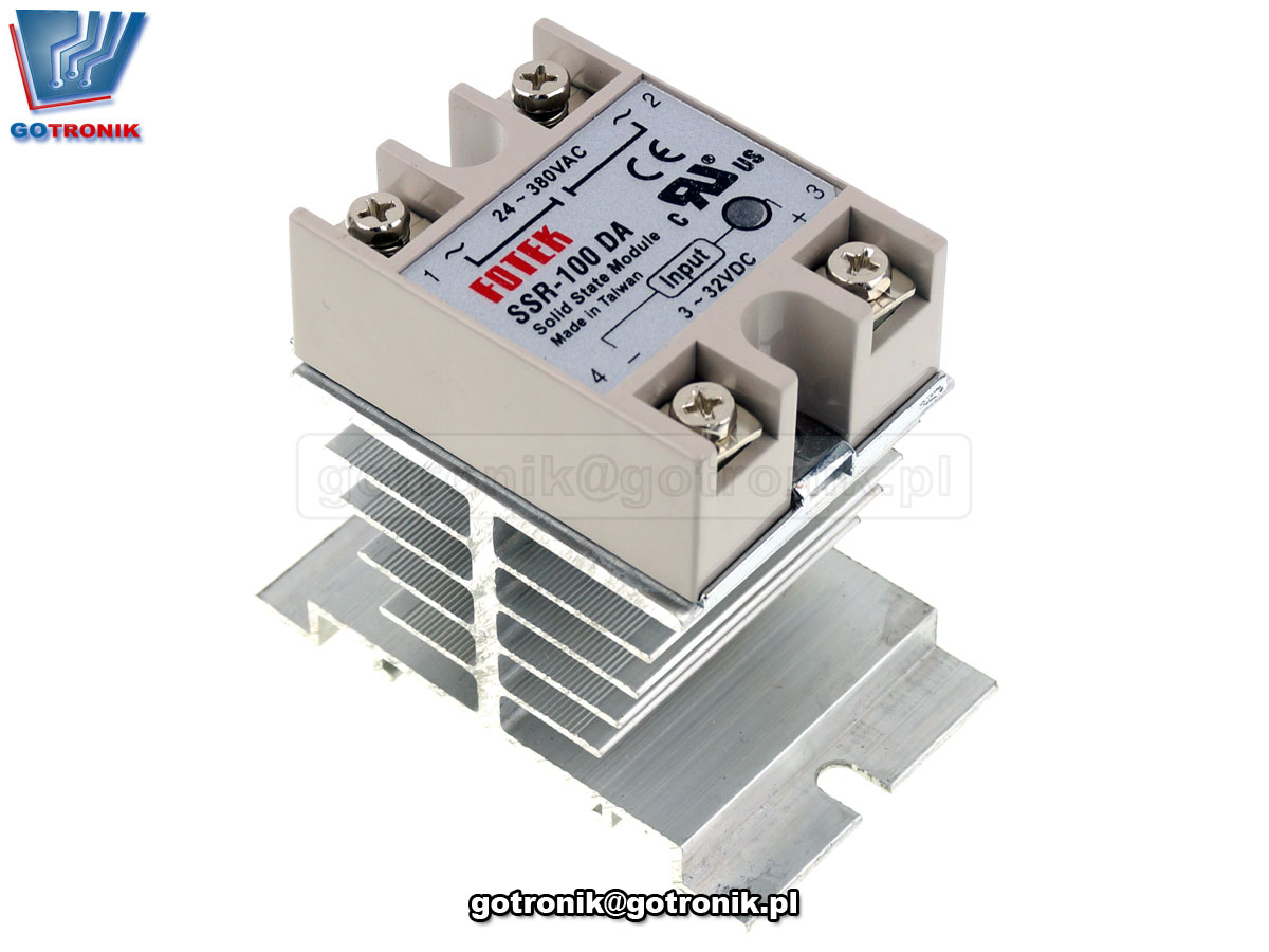 Radiator aluminiowy do przekaźników półprzewodnikowych SSR Fotek zamiennik HF92B-80 BTE-652