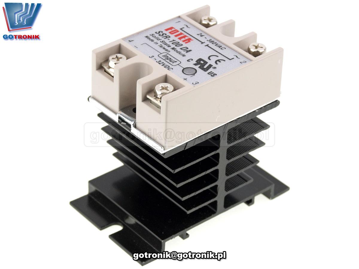 Radiator aluminiowy czerniony do przekaźników półprzewodnikowych SSR Fotek zamiennik HF92B-80 BTE-653