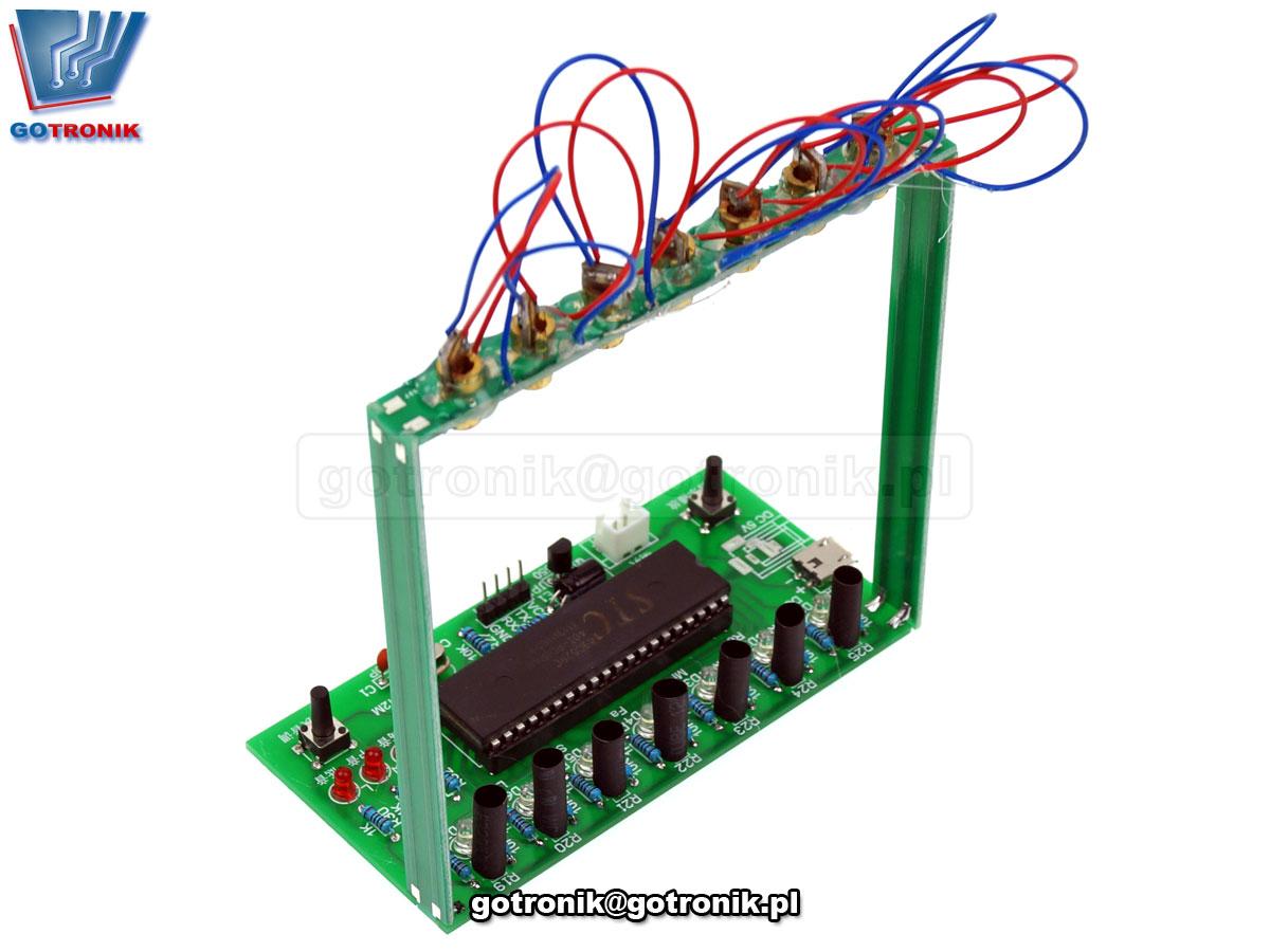 Elektroniczna harfa laserowa BTE-666 - zestaw so samodzielnego montażu KIT DIY