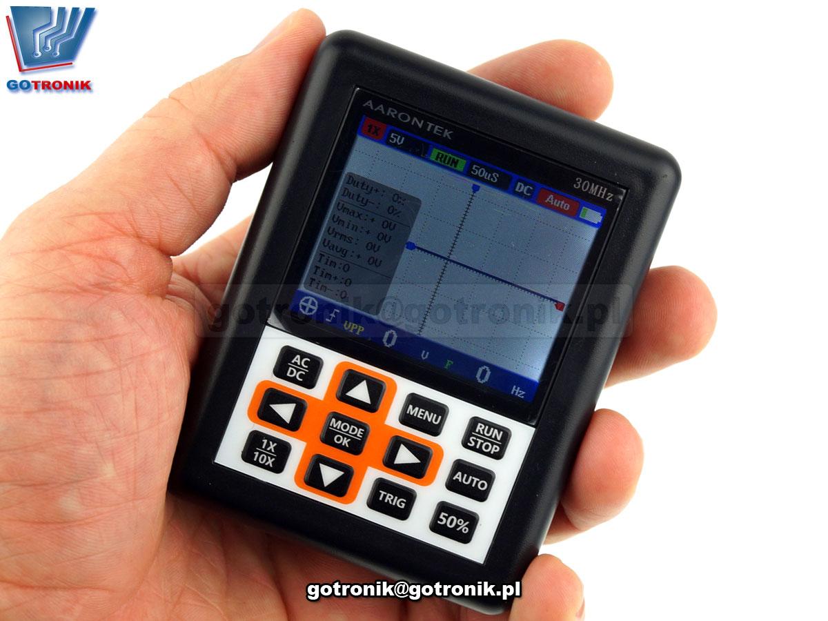 DSO NANO PRO przenośny oscyloskop cyfrowy 30MHz kolorowy LCD bateria akumulator DSO338