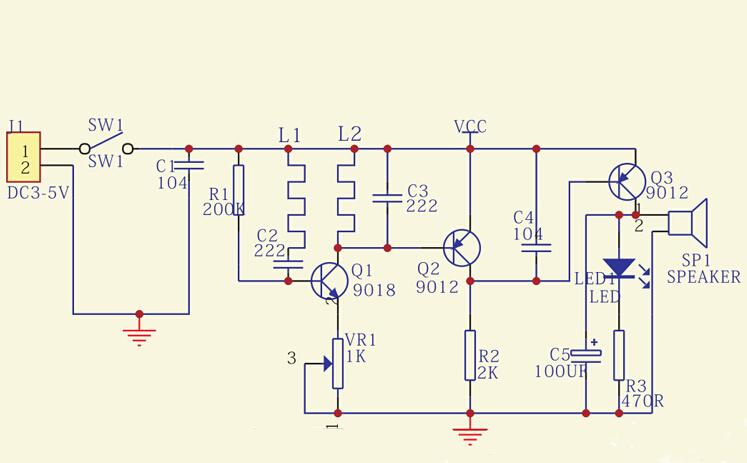 wykrywacz metalów metali metalu detektor elektroniczny zestaw do samodzielnego montażu KIT DIY eqkit mds-60 eqkit mds-60