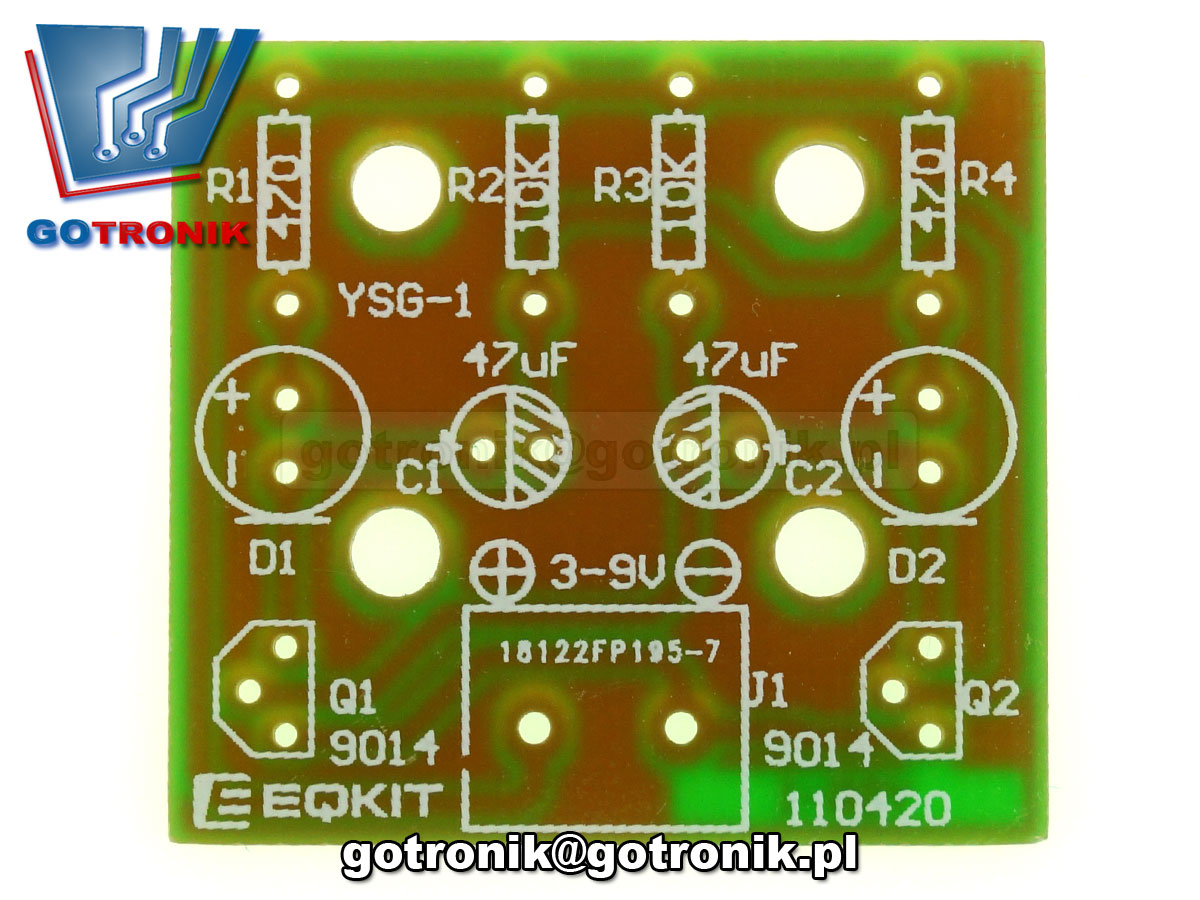 multiwibrator migacz LED efekt świetlny - zestaw do samodzielnego montażu KIT DIY