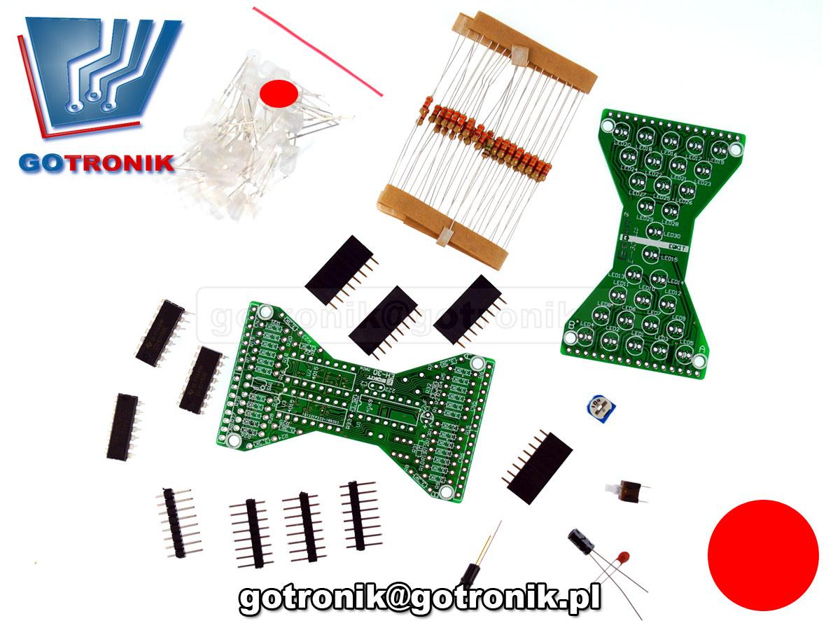 elektroniczna klepsydra LED efekt świetlny - zestaw do samodzielnego montażu KIT DIY