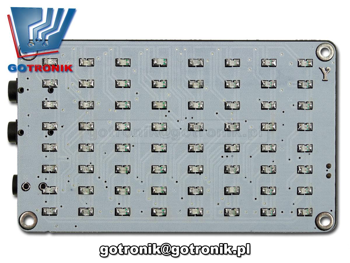 ELEK-124 wskaźnik wysterowania audio 64 led analizator widma akustycznego LED efekt świetlny - zestaw do samodzielnego montażu KIT DIY