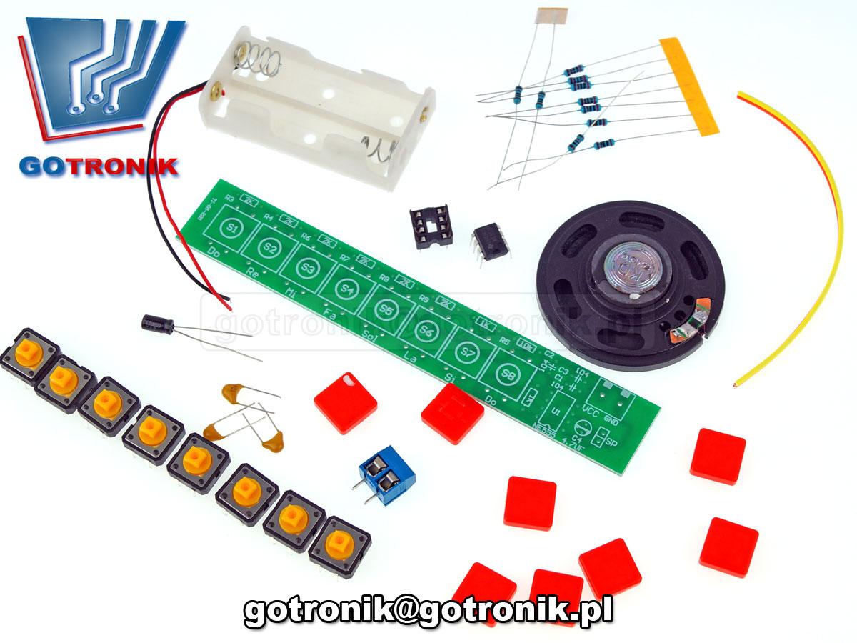 elektroniczne organy NE555 generator dźwięku do re mi fa sol la si do ELEK-144 - zestaw do samodzielnego montażu KIT DIY