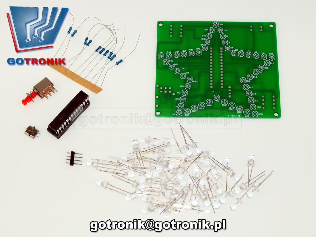 migające diody LED RGB efekt świetlny - zestaw do samodzielnego montażu KIT DIY