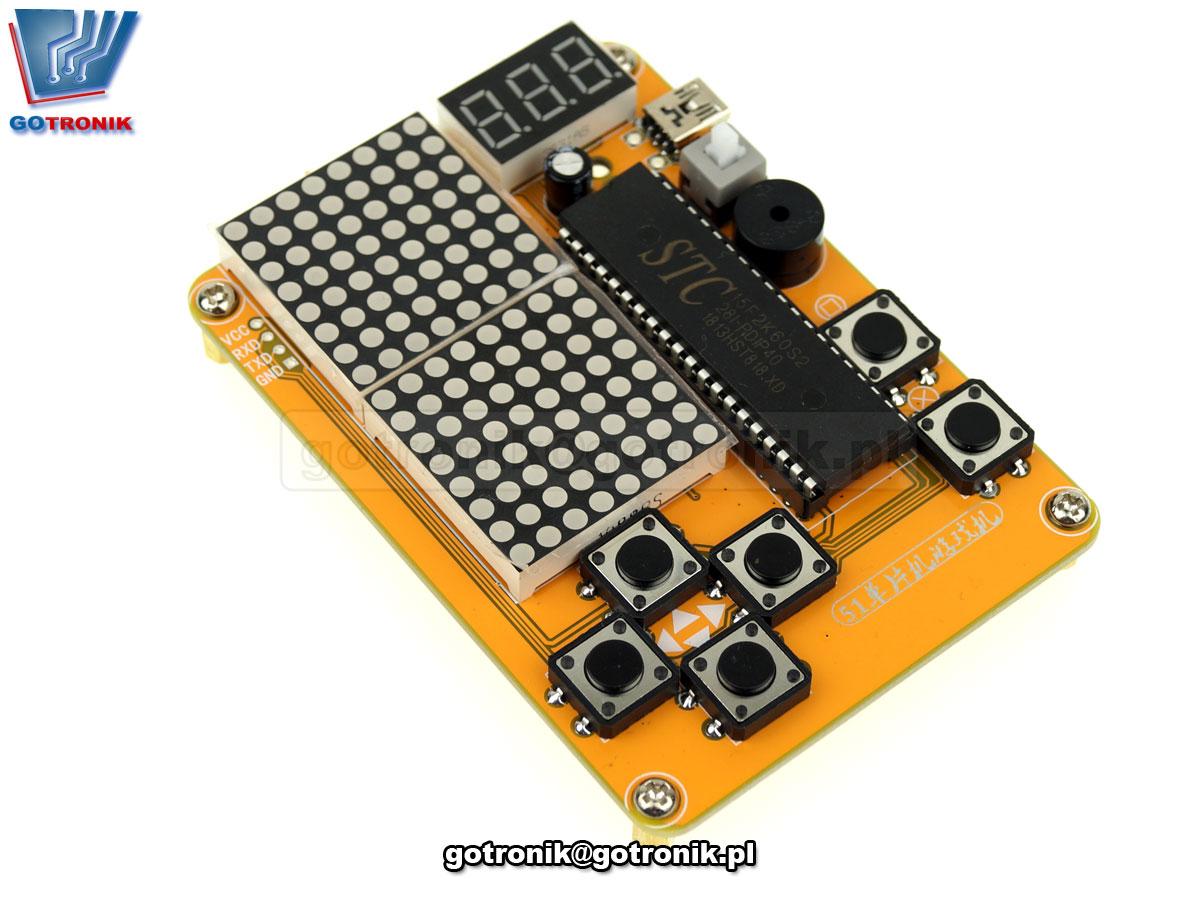Elektroniczna gra Tetris Snake Plane Racing - zestaw so samodzielnego montażu KIT DIY