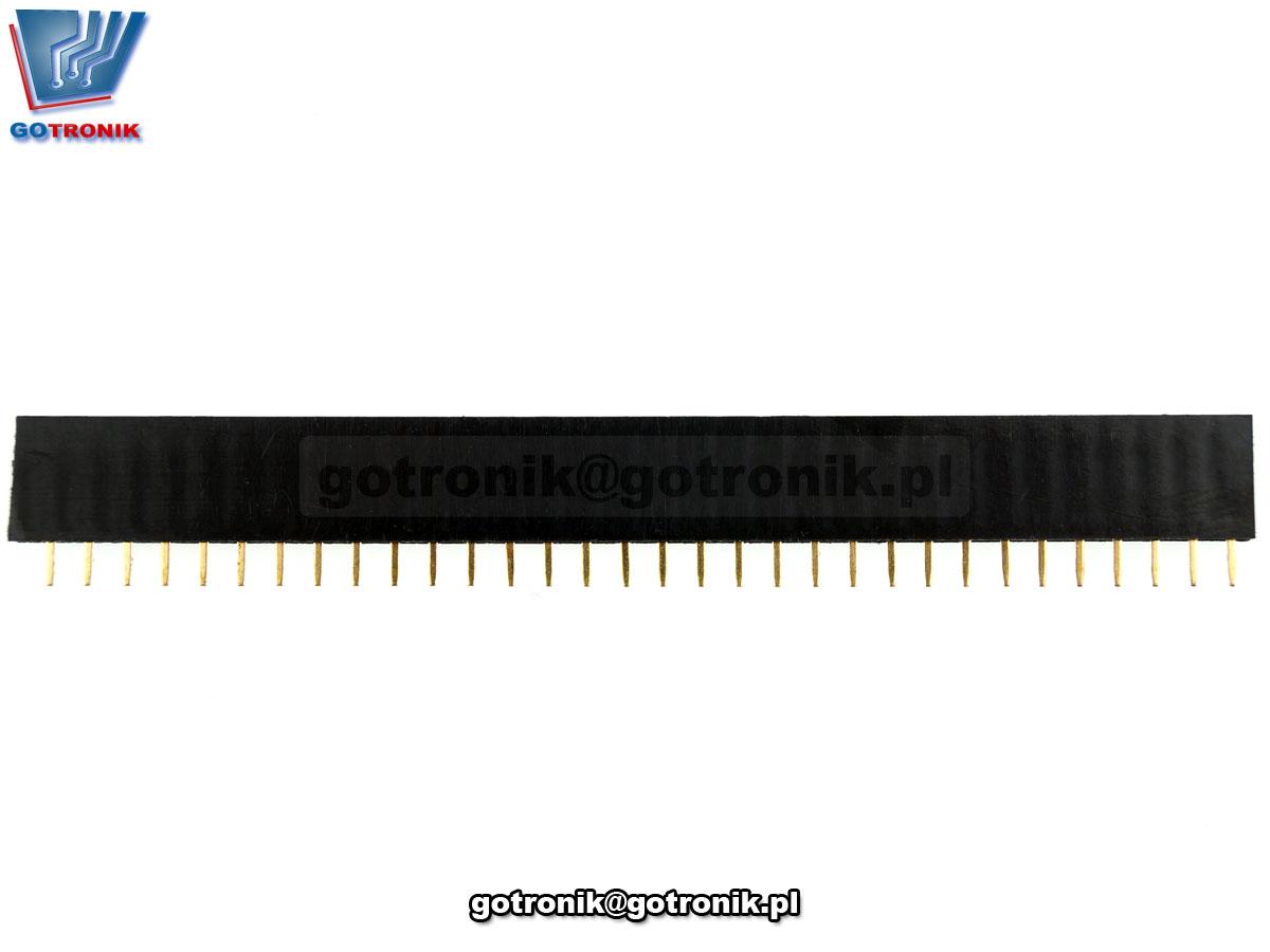 Gniazdo szpilkowe proste 1x32pin pod listwę goldpin złącze