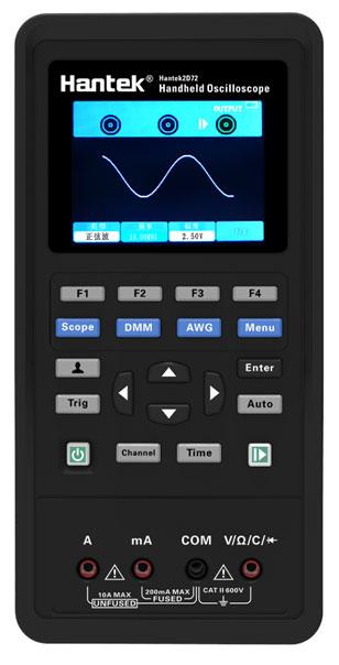 Hantek2d42 przenośny oscyloskop cyfrowy skopometr dwukanałowy z generatorem sygnałów i wbudowanym multimetrem cyfrowym