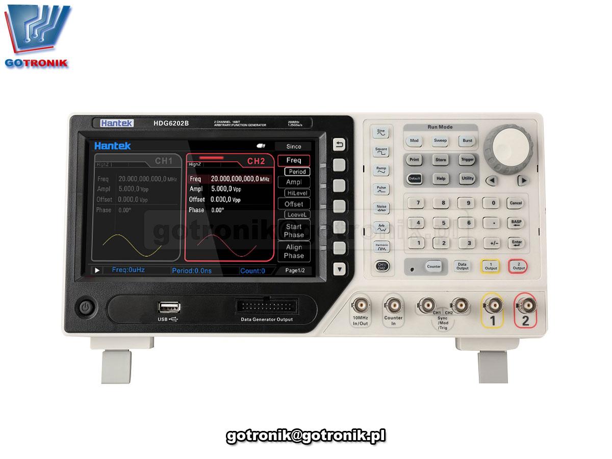 HDG6000B Hantek dwukanałowy generator funkcyjny laboratoryjny