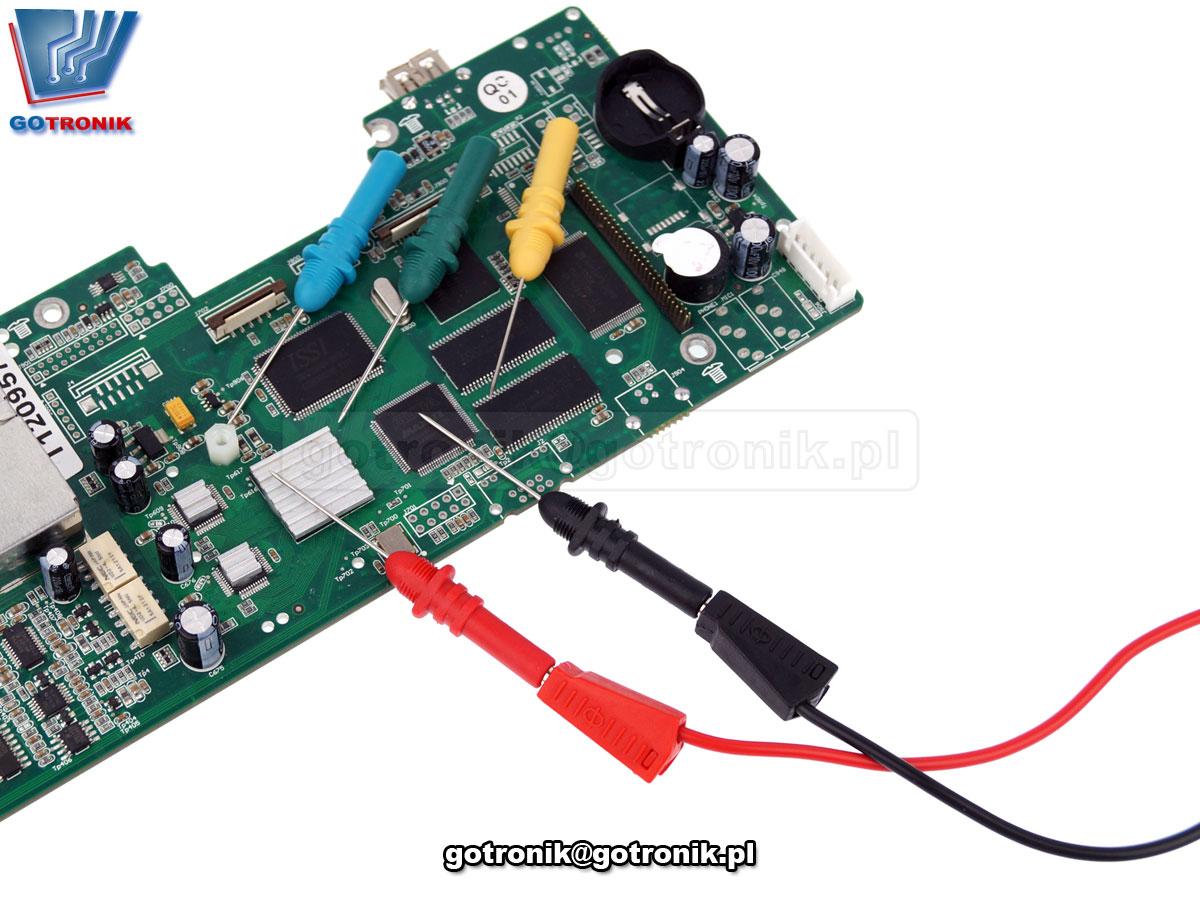 HT307 Hantek zestaw sond igieł igłowych do nakłuwania przebicia izolacji przewodów kabli pomiarowych