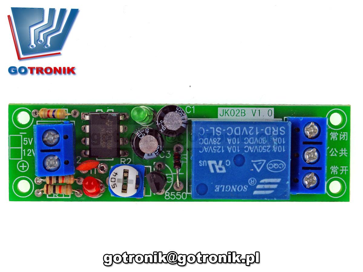 Moduł opóźnionego włącznika w zakresie od 0 do 60 sekund LCT-100 12V