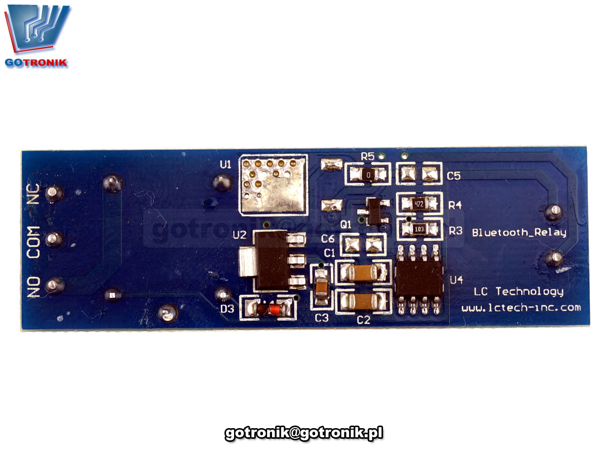 LCT-181 Moduł 1 przekaźnika 5V sterowanego przez Bluetooth