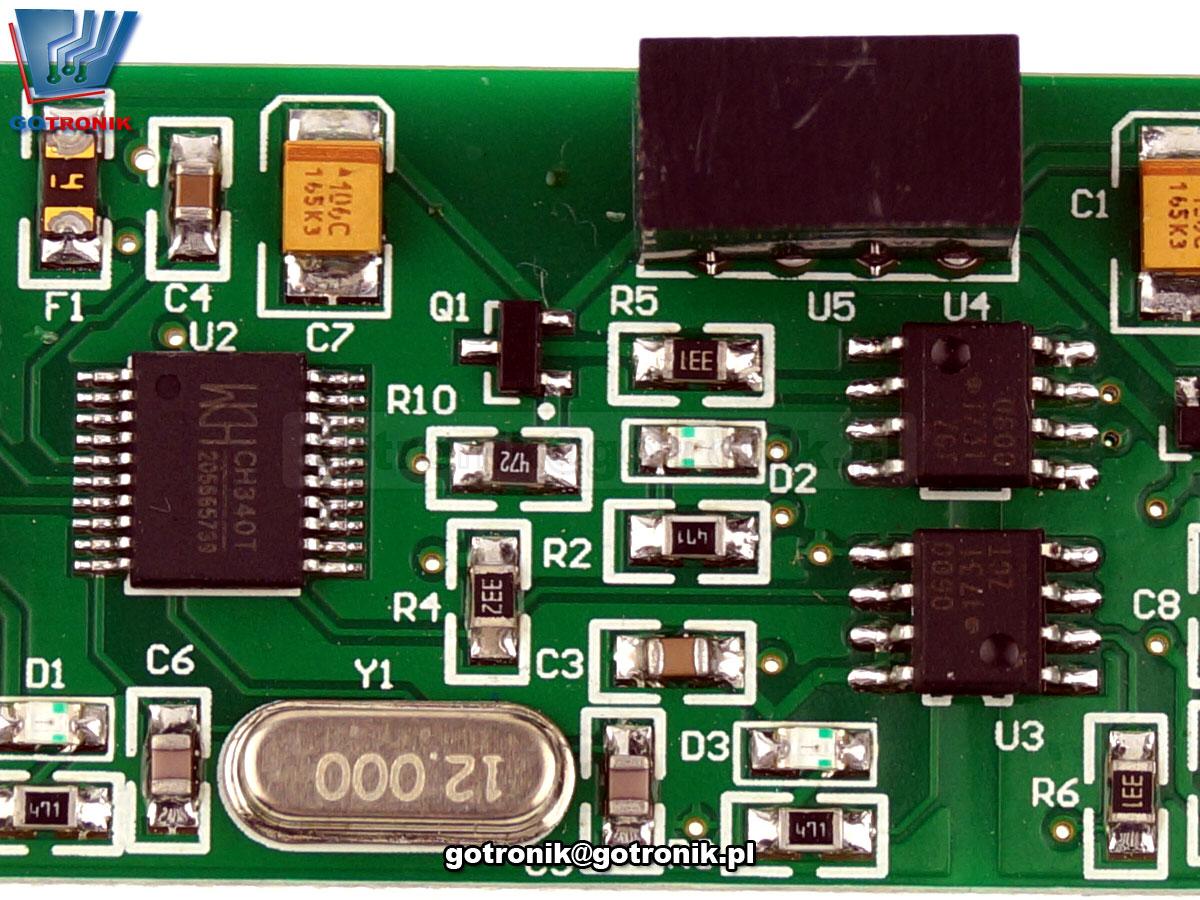 LCT-195 konwerter adapter CH340 USB to TTL izolowany z izolacją