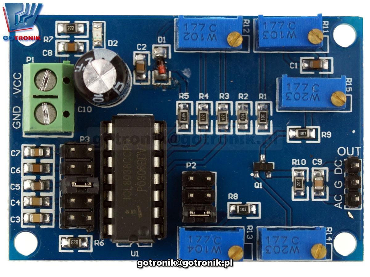 LCT-198 generator ILC8038 prostokąt trójkąt sin sinusoida sinusoidalnego przegiegu fali
