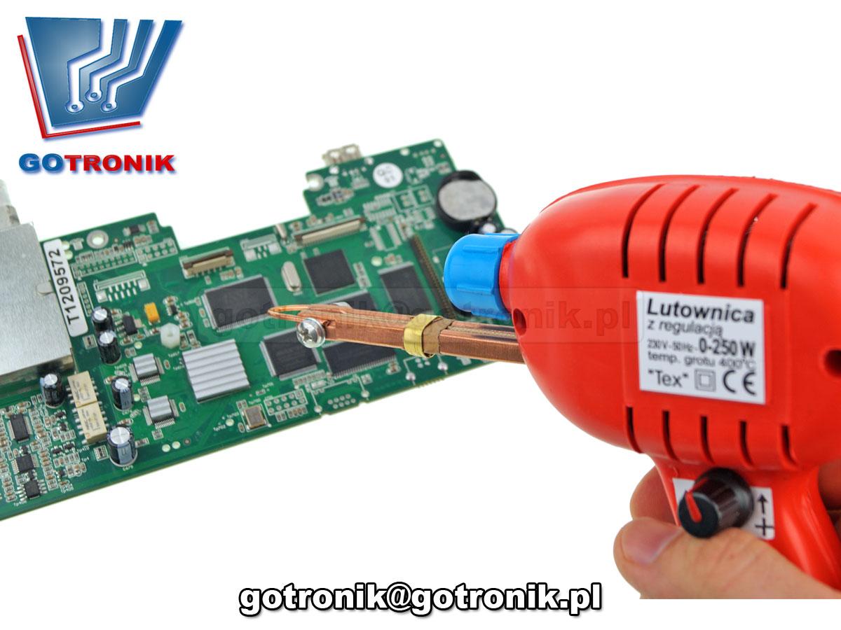 polska lutownica transformatorowa tex 250W LED grot miedzialny z regulacją mocy
