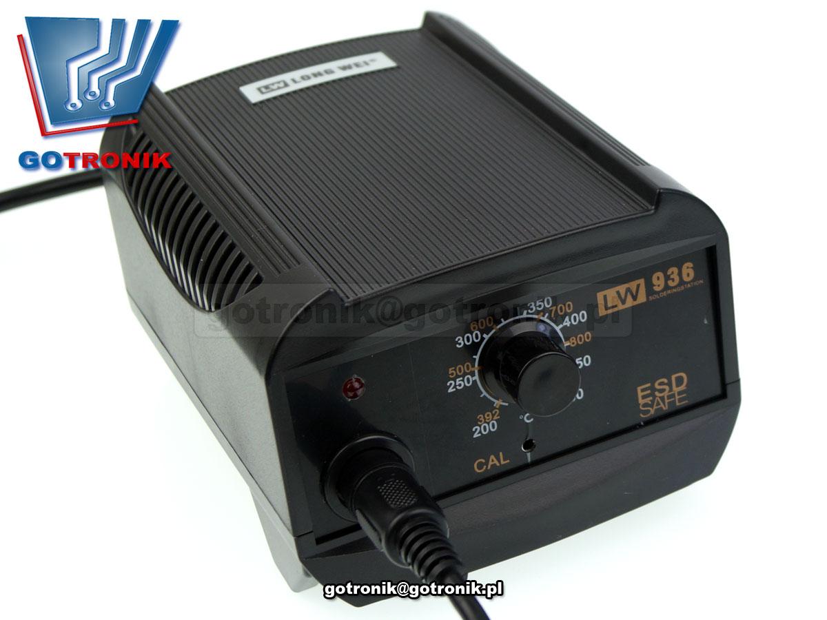 LW-936, LW936, stacja lutownicza, analogowastacja lutownicza, stacja do lutowania, lutownica z regulacją temperatury, kolba, esd, rohs, longwei