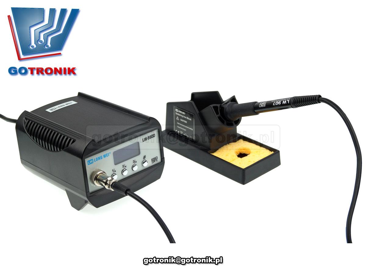 LW-980D, LW980D, stacja lutownicza, cyfrowa stacja lutownicza, stacja do lutowania, lutownica z regulacją temperatury, kolba, esd, rohs, longwei