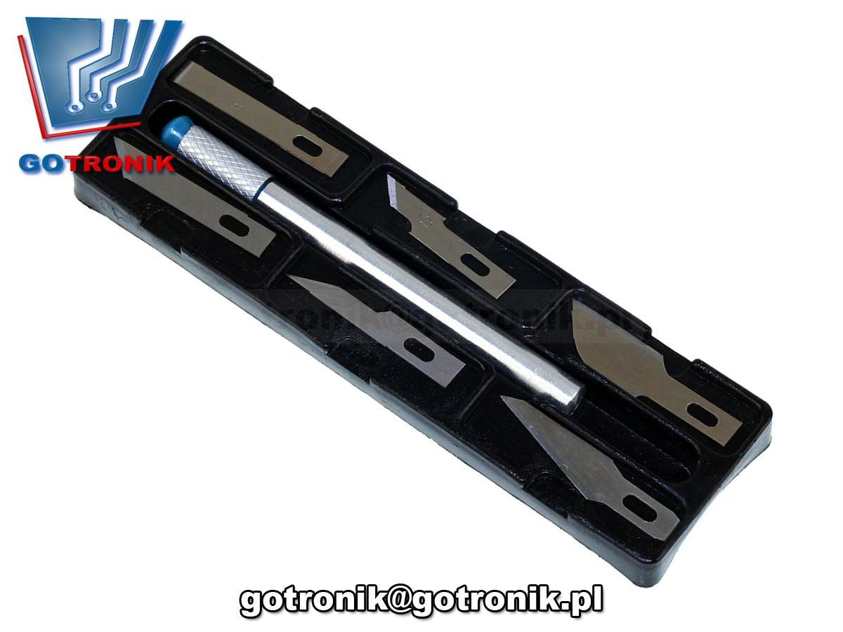 KOM-256 Skalpel + 6sztuk ostrzy nóż ostrze