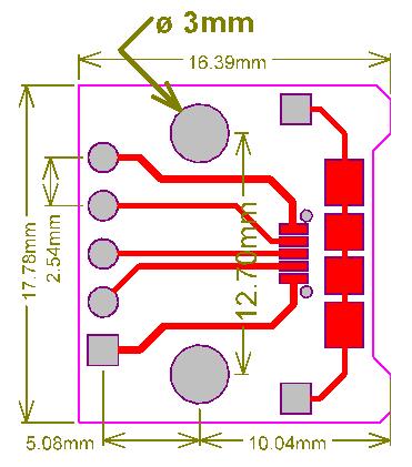 PCB-104 gniazdo USB microUSB adapter prototypowe PCB