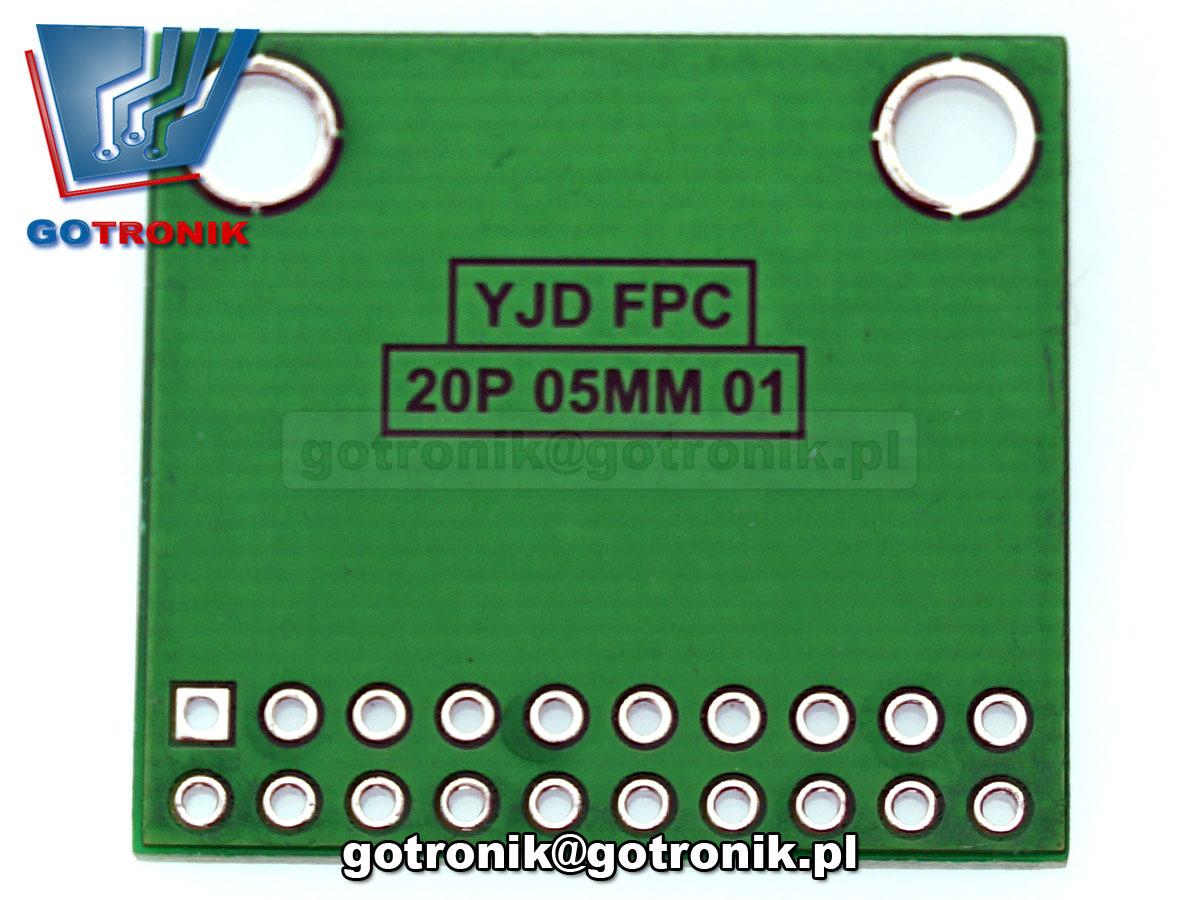 PCB-109 adapter Płytka drukowana FPC/FFC 20pin 0,5mm do taśm przewodzących