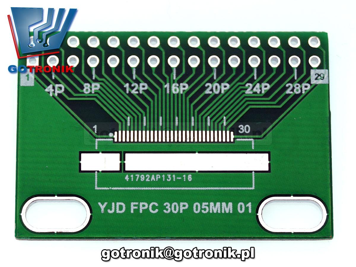 PCB-110 adapter Płytka drukowana FPC/FFC 30pin 0,5mm do taśm przewodzących