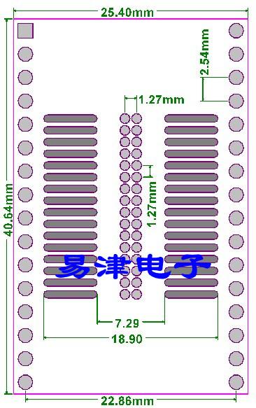 PCB-125 Płytka drukowana SO32 SOP32 SOIC32 SOP32 na DIP8 PCB adapter 1.27mm adapter do lutowania