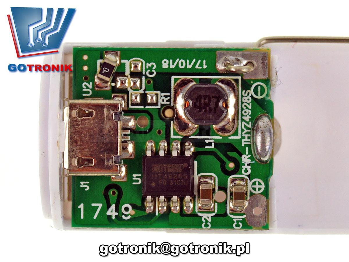 ELEK-086 Obudowa Power Bank 1 x 18650 CZERWONA USB