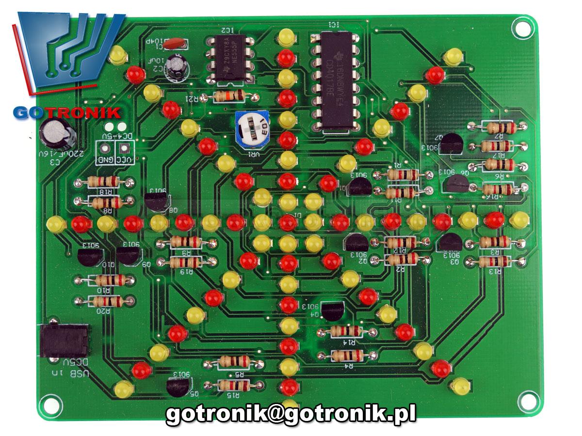 rozbysk rozbłyskujące diody LED efekt świetlny - zestaw do samodzielnego montażu KIT DIY