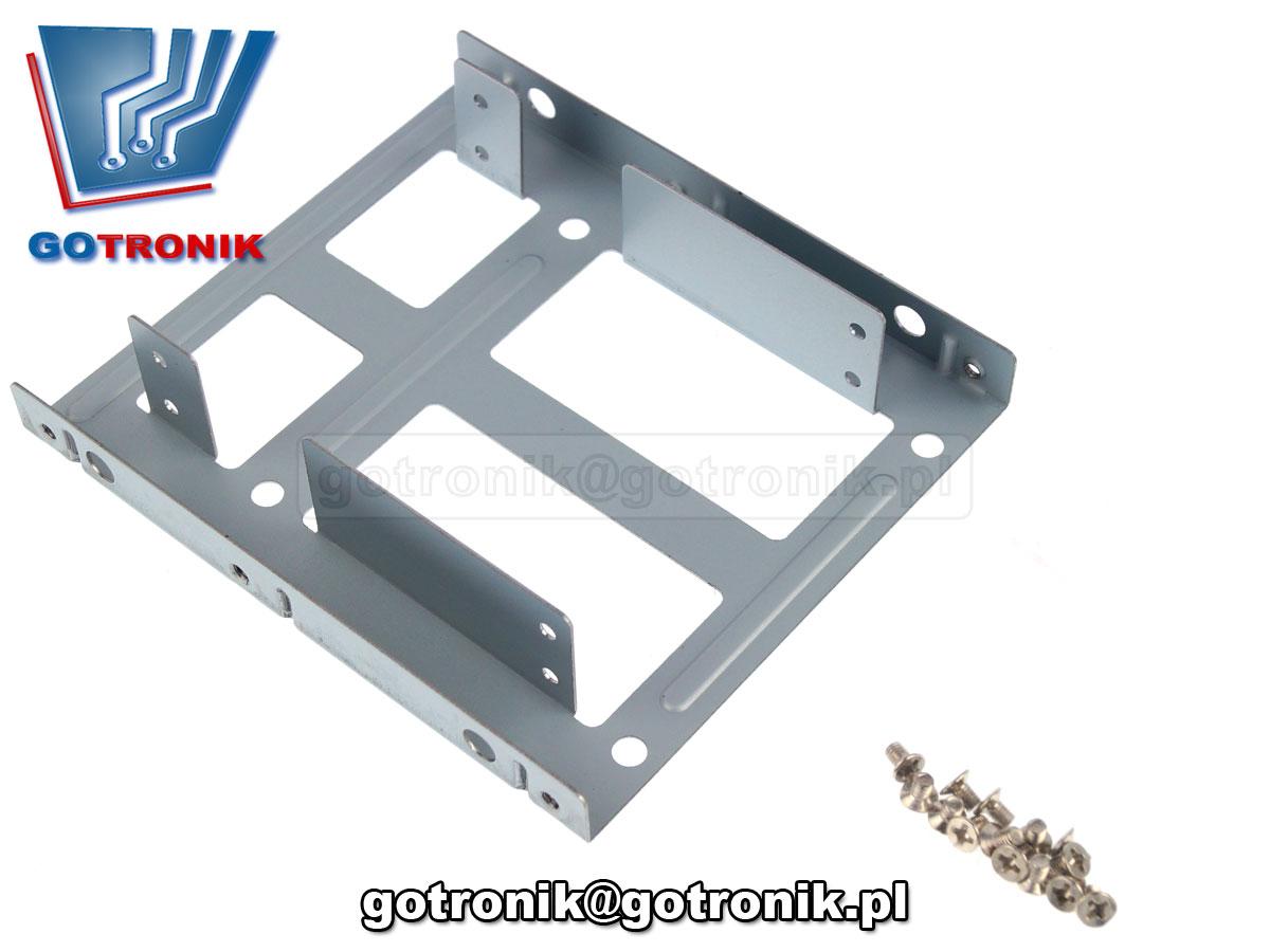 KOM-022 Adapter kieszeń ramka sanki przeznaczone do montażu dysku SSD w komputerze stacjonarnym