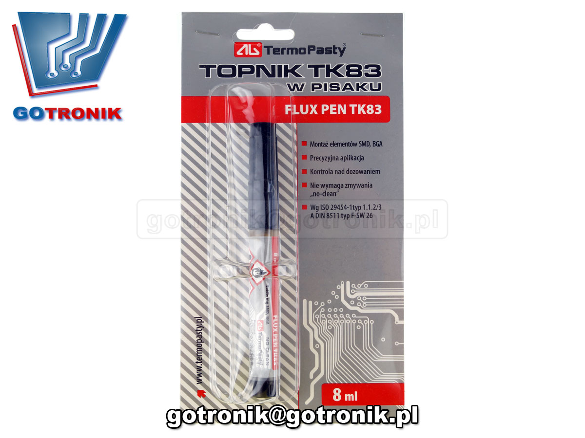 AGT-249 Topnik TK83 8ml w pisaku do lutowania SMD, BGA, no clean