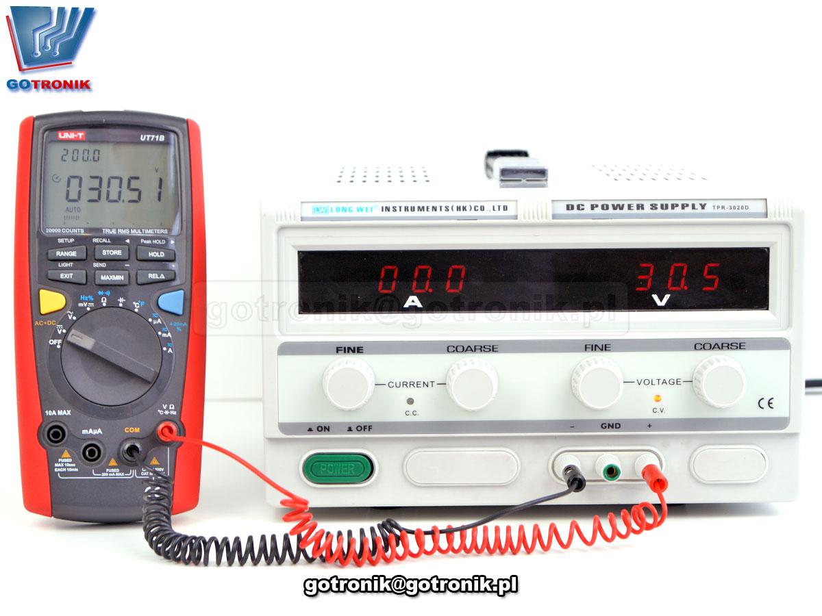 TPR-3020D, log wei, zasilacz dc, zasilacz laboratoryjny, zasilacz regulowany, zasilacz serwisowy, zasilacz 30V, zasilacz 10A, regulacja napięcia, zasilacz z woltomierzem, stabilizacja napięcia, liniowy TPR3020D, 600W