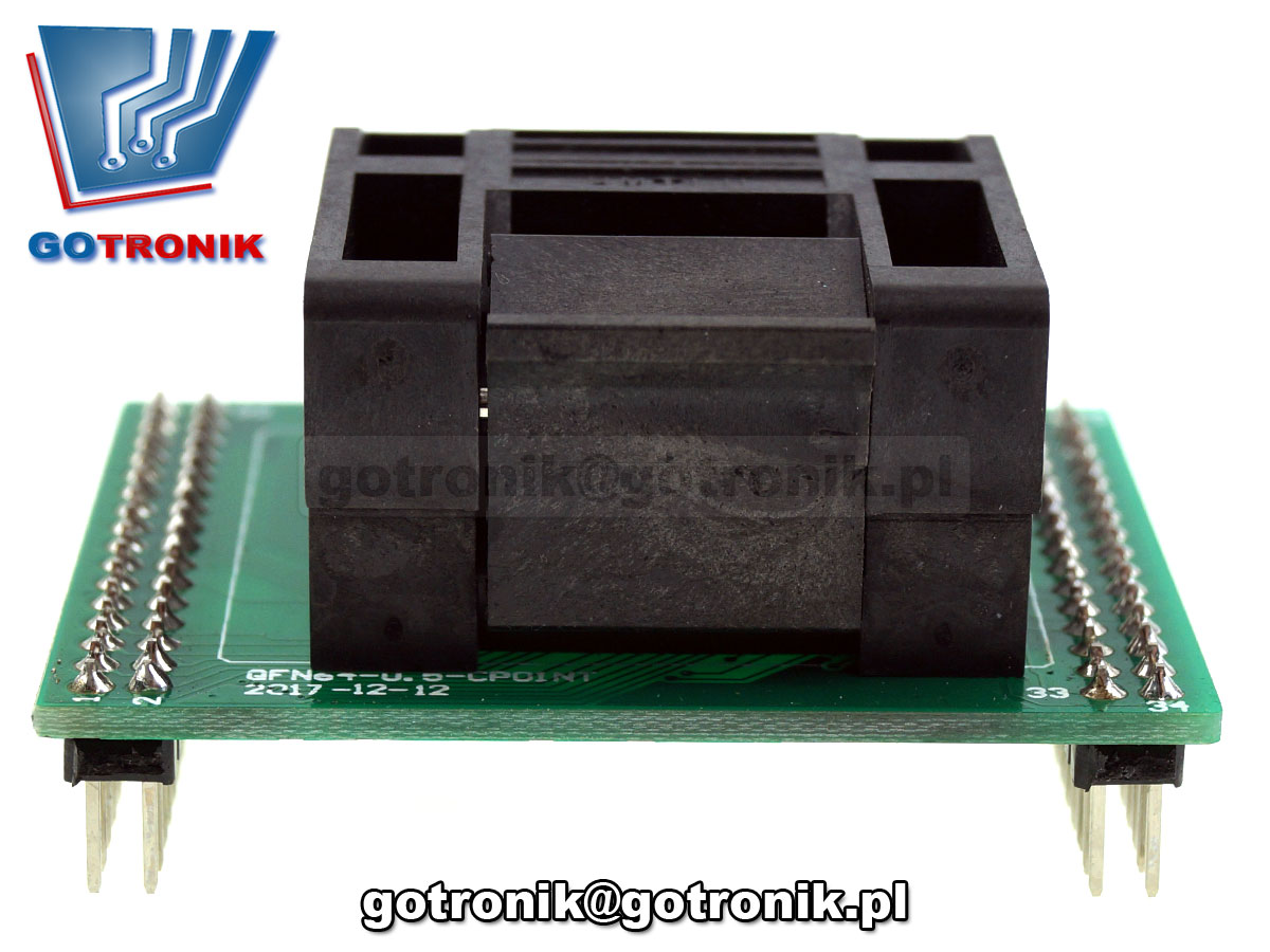 Adapter TQFP64 0.5mm z podstawką testową QFP64 LQFP64 TQFP64 CQFP64 A-082