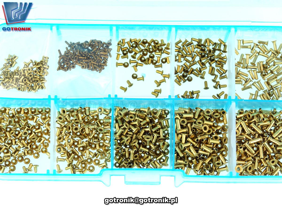 zestaw 1000 sztuk tulei tulejek miedzianych do wykonywania przelotek bez metalizacji płyteki drukowanej pcb